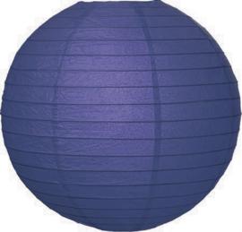 Donker blauwe lampionnen 20 cm