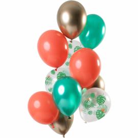 Ballonnen set Tropical Gem 12 stuks