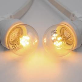 Witte prikkabel lichtsnoer 50 meter 100 led lampen