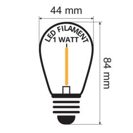 Prikkabel 35 meter compleet met led lampen