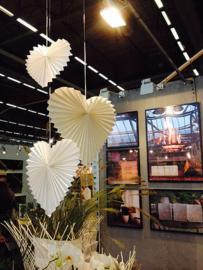 Witte hart papier 30 cm tindra