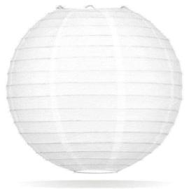 Witte lampion 35 cm