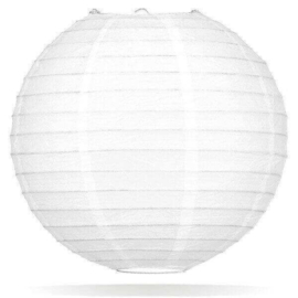 Witte lampionnen 30 cm
