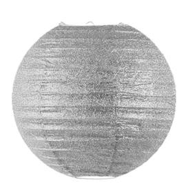 Glitter lampion zilver 45 cm