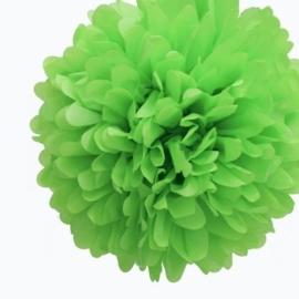 Pompon lime groen 20 cm