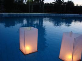 Drijvende houten lantaarns 10 pakken - 20 stuks.
