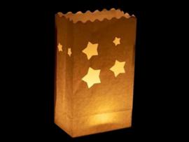 Candlebag kaarszak sterren 10 stuks