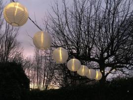Lampion verlichting op stroom 10 meter