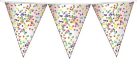 Vlaggenlijn confetti vlaggetjes 10 meter