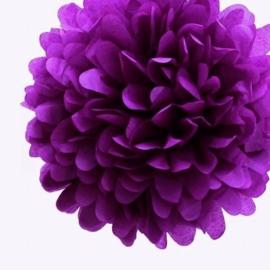 Pompon paars 35 cm