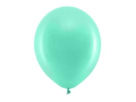 Ballon pastel kleur mint groen 30 cm - 10 stuks