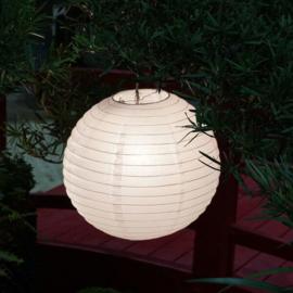Nylon buiten lampion wit 25 cm