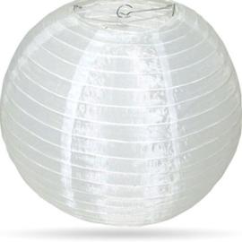 Witte lampion nylon buiten 50 cm