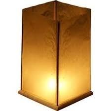 Drijvende houten lantaarns 5 pakken - 10 stuks.