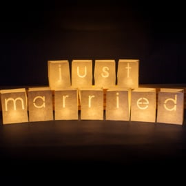 Candlebags woordset just married - midi