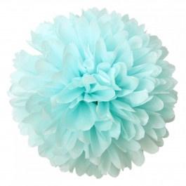 Pompon licht blauw 20 cm