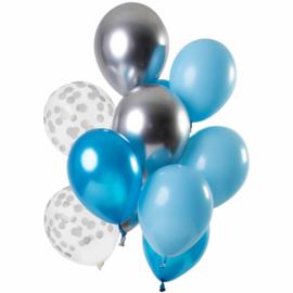 Ballonnen set Aquamarine 12 stuks