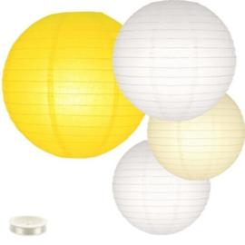 Lampionnen pakket geel - 35 lampionnen