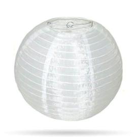 Witte lampion nylon voor buiten 20 cm