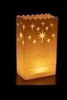 Candlebag Kristal Star 10 stuks