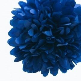 Pompon donkerblauw 35 cm