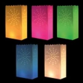 """Candlebags """" Zon """" kleurmix - 10 stuks"""