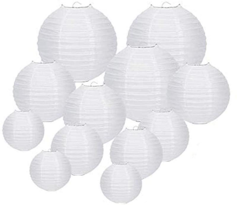 Voordeel pakket 35 witte lampionnen