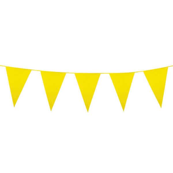 Vlaggenlijn gele vlaggetjes 10 meter