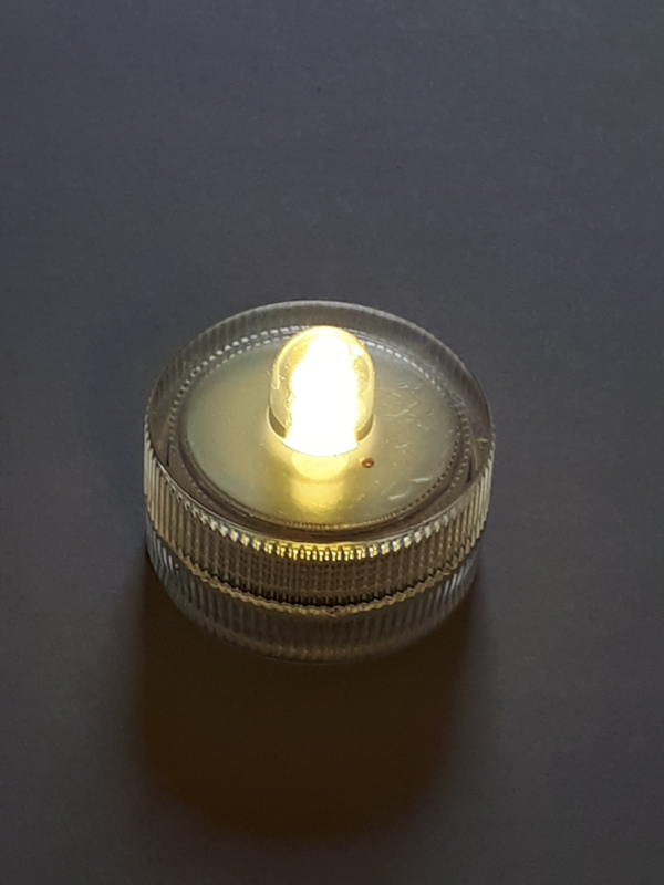 Led waxinelichtje warm wit - 10 stuks
