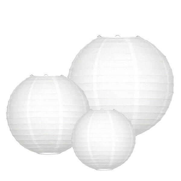 Lampionnen pakket 60 witte lampionnen