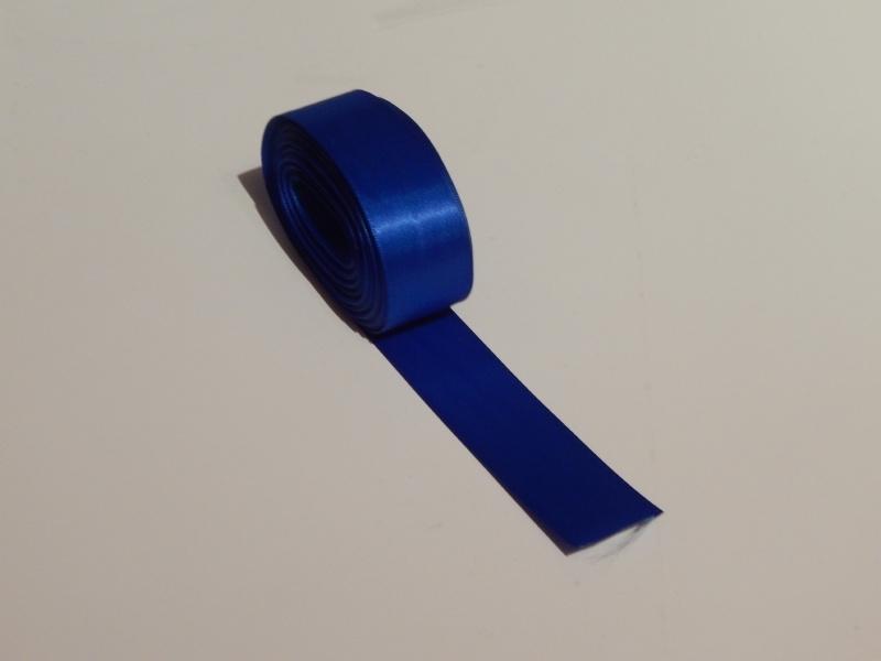 Satijnlint Blauw 25 mm.