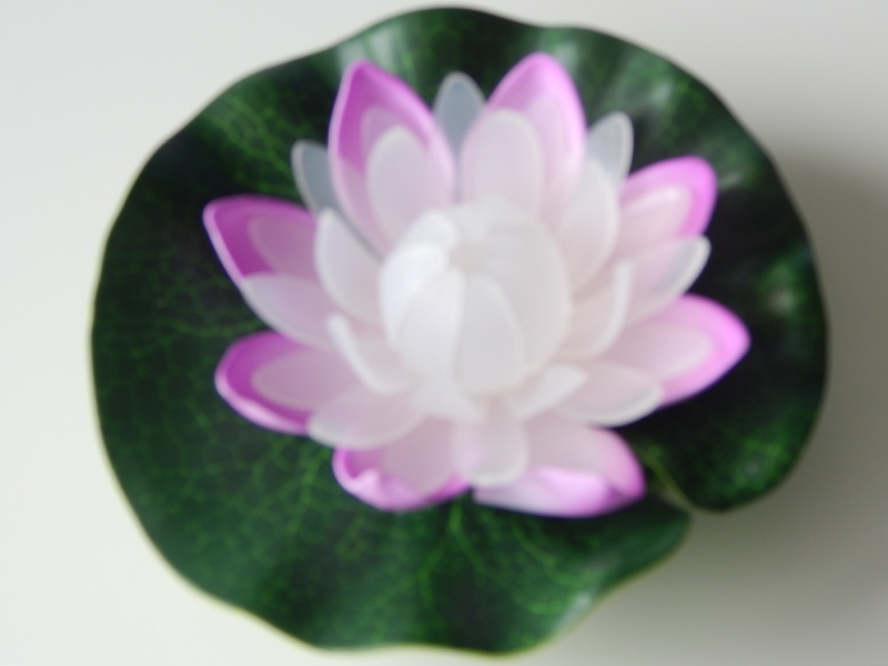Led lotusbloem wit-lila