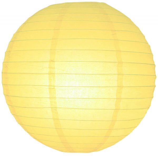Licht gele lampionnen 35 cm