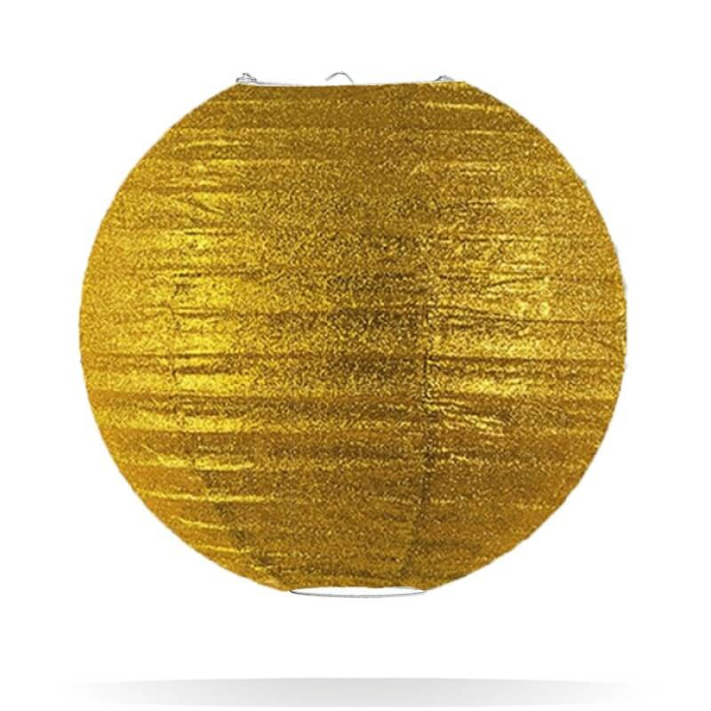 Glitter lampion goud 25 cm