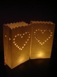Candlebags hartjes 10 stuks