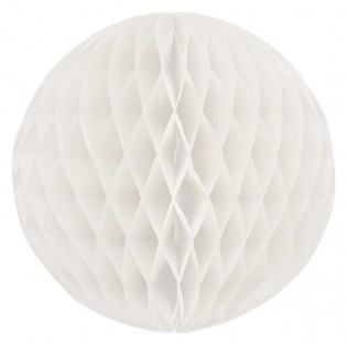 Honeycomb bollen Wit ( off white ) - 32 cm