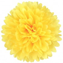 Pompon citroen geel 35 cm
