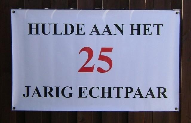 Banner 25 jarig huwelijk.