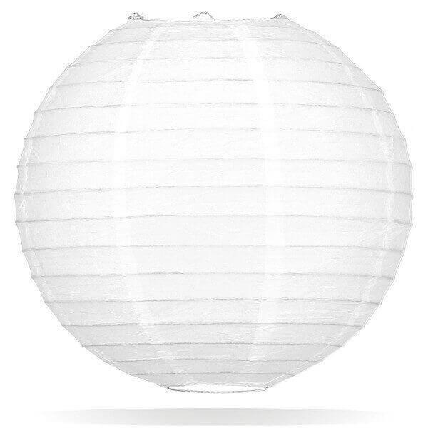 Witte lampion 25 cm