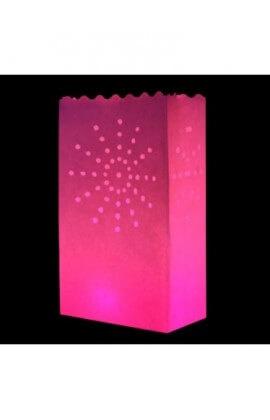 Roze candlebag Zon - 10 stuks