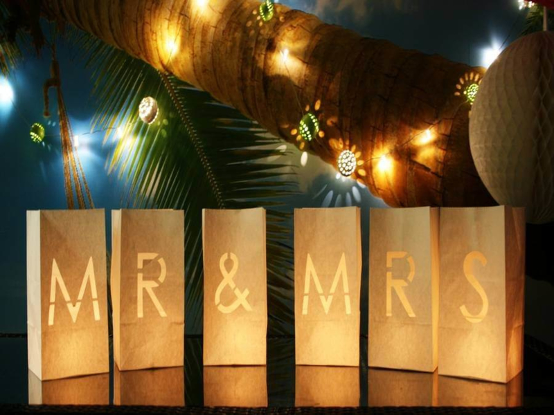 Candlebags woord set MR & MRS