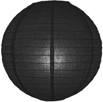 Zwarte lampionnen 35 cm