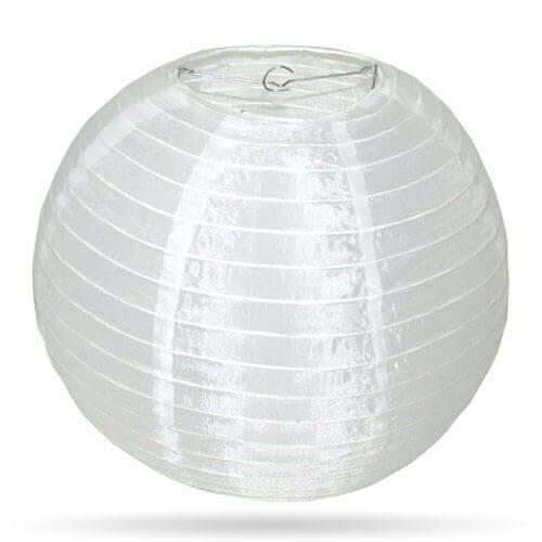 Witte lampion nylon buiten 25 cm