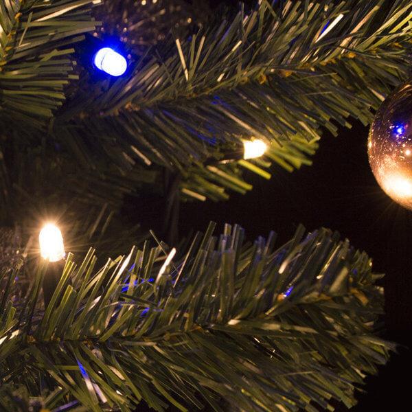 Kerstverlichting koppelbaar - met blauwe fonkel 10 meter