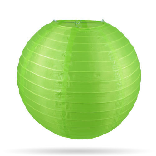 Nylon lampion voor buiten groen 20 cm