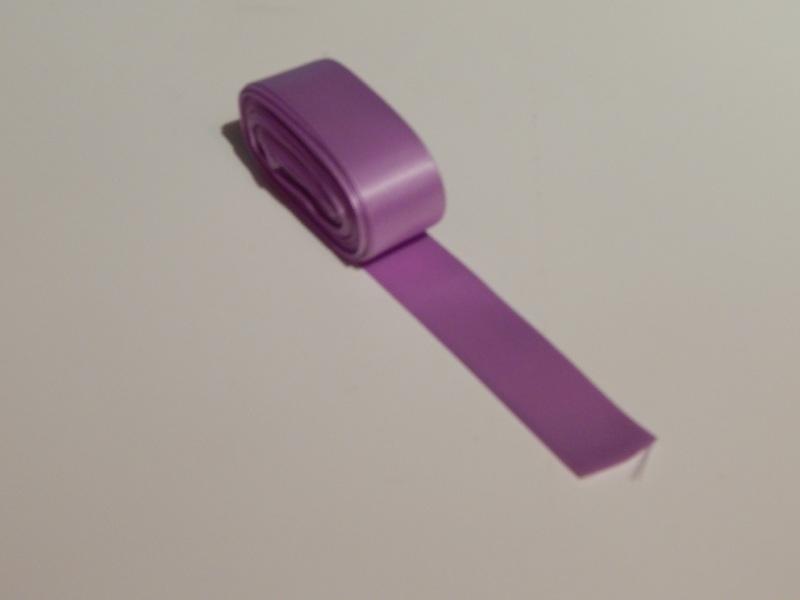 Satijnlint Lila - licht paars 25 mm.