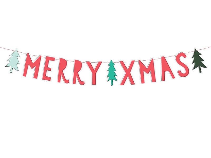 Letterslinger Merry Xmas kleur