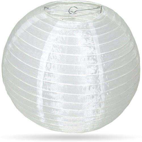 Nylon buiten lampion wit 35 cm