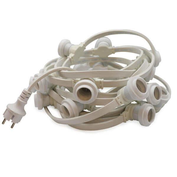 Witte prikkabel lichtsnoer 10 meter 20 led lampen