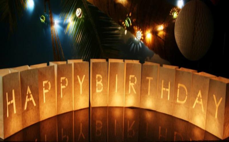 Candlebags woord set HAPPY BIRTHDAY